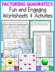 FACTORING QUADRATIC EXPRESSIONS NOTES AND ACTIVITY BUNDLE