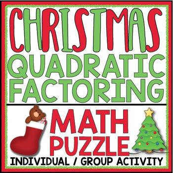 FACTORING QUADRATICS CHRISTMAS ACTIVITY