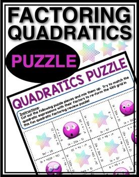 FACTORING QUADRATICS PUZZLE