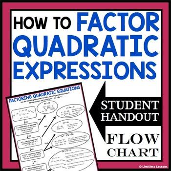 FACTORING QUADRATICS STUDENT HANDOUT