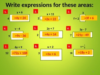 FACTORISING AND EXPANDING EQUATIONS
