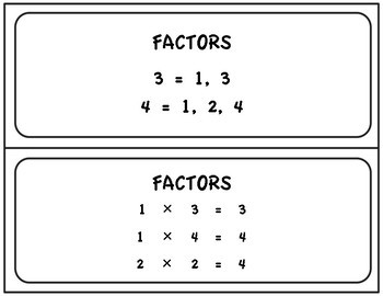 Factors And Products Table 1 50 Tpt Notice that here, it is written in exponential form. factors and products table 1 50