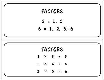 FACTORS AND PRODUCTS TABLE 1-50 -