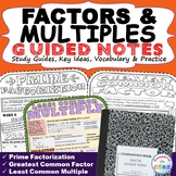 FACTORS AND MULTIPLES GCF & LCM Doodle Math Interactive No