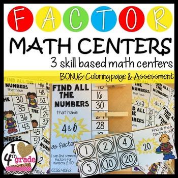 FACTORS Math Centers CCSS 4.OA.B.4