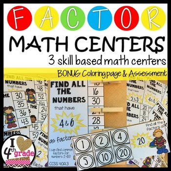 FACTORS Math Centers CCSS 4.OA.B.4