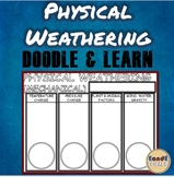 FACTORS THAT CAUSE PHYSICAL WEATHERING- SCIENCE DOODLE & LEARN NOTES