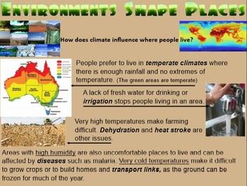 FACTORS THAT SHAPE PLACES- Stage 3 Geography (2 Terms inc. Proj.Bas.Lrn. + test)