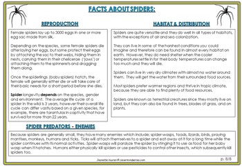 FACTS ABOUT SNAKES & SPIDERS PREP TO Y6 - LITERACY RESOURCES by JEANETTE VUUREN
