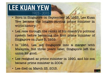 FACTS OF LEE KUAN YEW - SINGAPORE