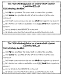 FADD short response checklist with extra supports