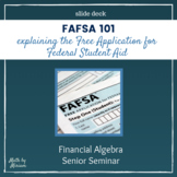 FAFSA 101 Intro to the Free Application for Federal Studen