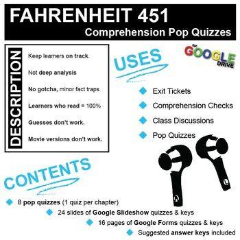 FAHRENHEIT 451 8 Pop Quizzes (Created for Digital)