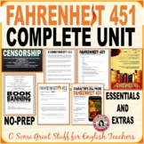 FAHRENHEIT 451 Complete Unit with Formal and Creative Activities NO PREP