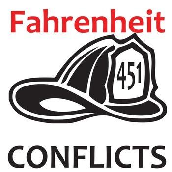 FAHRENHEIT 451 Conflict Graphic Organizer - 6 Types of Conflict
