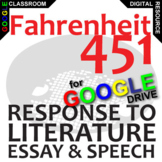 FAHRENHEIT 451 Essay Prompts and Speech w Rubrics (Created for Digital)