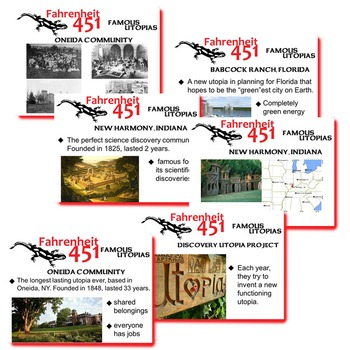 FAHRENHEIT 451 Introduction to Utopias PowerPoint