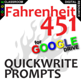 FAHRENHEIT 451 Journal - Quickwrite Writing Prompts (Creat