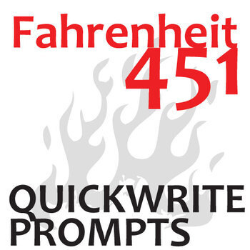 fahrenheit journal quickwrite writing prompts powerpoint