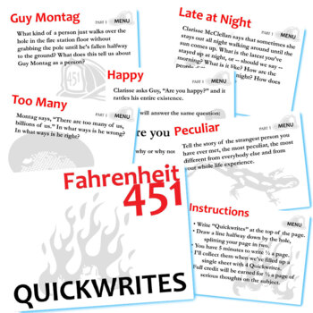 essay prompts for fahrenheit 451