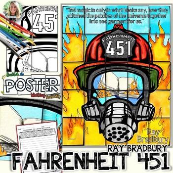 FAHRENHEIT 451, RAY BRADBURY, COLLABORATIVE POSTER, AND WRITING ACTIVITY