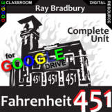 FAHRENHEIT 451 Unit Novel Study Literature Guide (Created