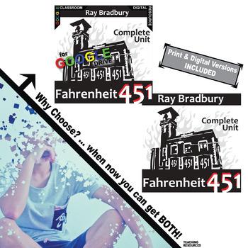 FAHRENHEIT 451 Unit Novel Study (Ray Bradbury) (Print & Digital Included)