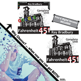 FAHRENHEIT 451 Unit Plan Novel Study (Ray Bradbury) (Print & Digital Included)