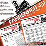 FAHRENHEIT 451 Unit - Novel Study Bundle (Ray Bradbury) -