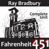 FAHRENHEIT 451 Unit Plan - Novel Study Bundle (Ray Bradbury) - Literature Guide