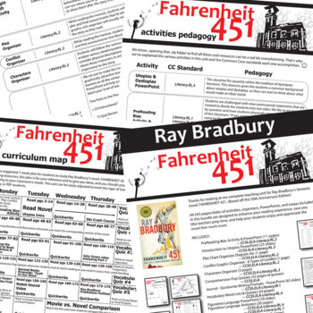 FAHRENHEIT 451 Unit Plan - Novel Study Bundle (Ray Bradbury) - Literature Guide