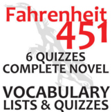 FAHRENHEIT 451 Vocabulary Complete Novel (180 words)