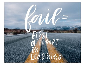 FAIL = First Attempt In Learning Poster / Print