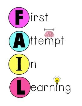FAIL Growth Mindset