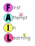FAIL Growth Mindset