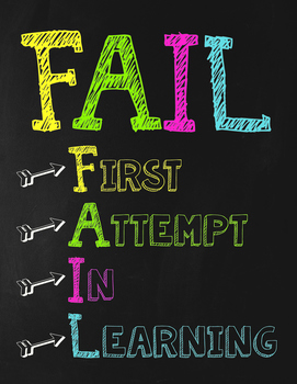 FAIL Poster - Chalkboard Themed