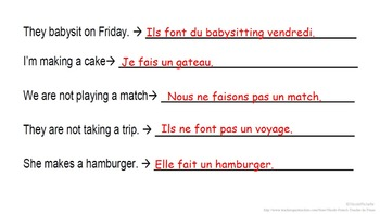 FAIRE: French Quick Lesson