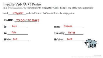 FAIRE with Infinitives (French Causative): French Quick Lesson