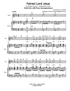 FAIREST LORD JESUS (Violin & Piano)
