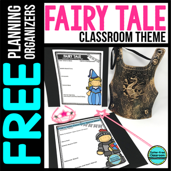 FAIRY TALE Theme Decor Planner by Clutter Free Classroom