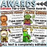 FAIRYTALE CLASS DECOR: EDITABLE AWARDS