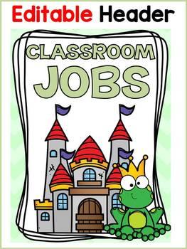 FAIRYTALE CLASS DECOR: EDITABLE CLASSROOM JOBS