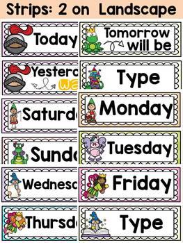 FAIRYTALE CLASS DECOR: EDITABLE DAYS OF THE WEEK POSTERS