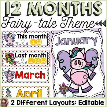 FAIRYTALE CLASS DECOR: EDITABLE MONTHS OF THE YEAR DISPLAY