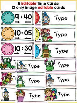 FAIRYTALE CLASS DECOR: EDITABLE SCHEDULE CARDS