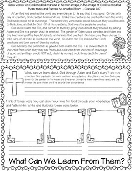 FAITH-BASED FREEBIE: Stories of the Bible- Adam and Eve Double-sided Flipbook
