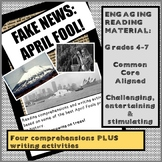 FAKE NEWS: APRIL FOOL! Reading comprehensions on the best pranks in history