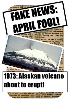 FAKE NEWS:April Fool! Reading activity on the hoax volcani