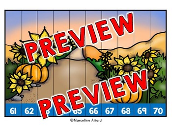 FALL MATH CENTERS: FALL COUNTING PUZZLES: NUMBERS TO 120: AUTUMN COUNTING CENTER