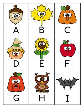 FALL ABC Matching and Recognition Game
